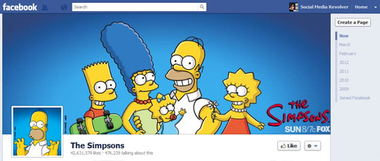 Facebook Brand Page Cover Photo - The Simpsons