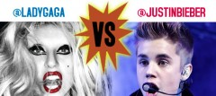 Lady Gaga Vs Justin Bieber On Twitter