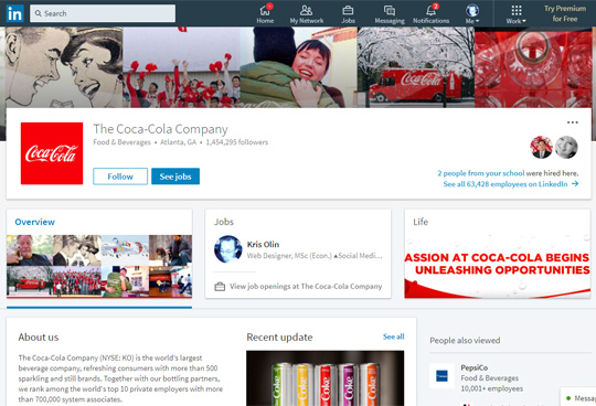 5 Fundamental LinkedIn Tools for Sales and Marketing No1 - Company Page