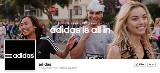 adidas page
