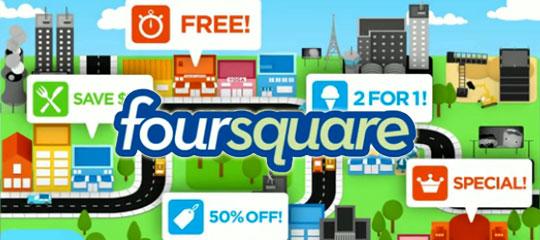 Foursquare App for Social Media Marketing