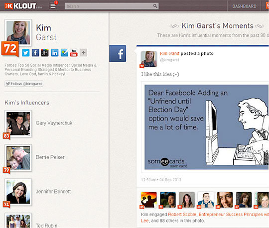 Top 12 Tools For Facebook - Klout